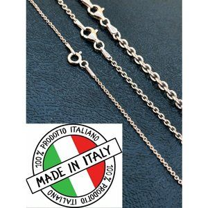 HarlemBling 925 Silver 14k Gold Cable Necklace